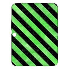 Stripes3 Black Marble & Green Watercolor (r) Samsung Galaxy Tab 3 (10 1 ) P5200 Hardshell Case