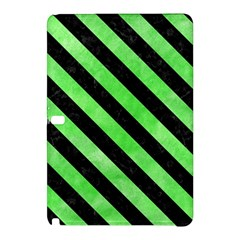 Stripes3 Black Marble & Green Watercolor (r) Samsung Galaxy Tab Pro 12 2 Hardshell Case