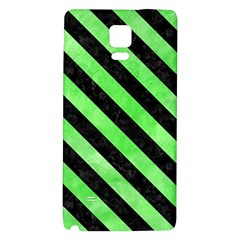 Stripes3 Black Marble & Green Watercolor (r) Galaxy Note 4 Back Case