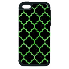 Tile1 Black Marble & Green Watercolor Apple Iphone 5 Hardshell Case (pc+silicone)