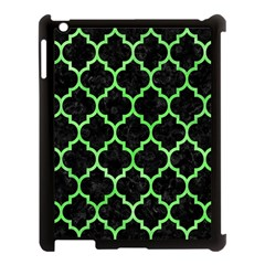 Tile1 Black Marble & Green Watercolor Apple Ipad 3/4 Case (black)