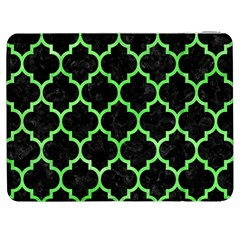 Tile1 Black Marble & Green Watercolor Samsung Galaxy Tab 7  P1000 Flip Case