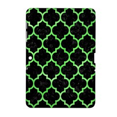 Tile1 Black Marble & Green Watercolor Samsung Galaxy Tab 2 (10 1 ) P5100 Hardshell Case