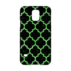 Tile1 Black Marble & Green Watercolor Samsung Galaxy S5 Hardshell Case