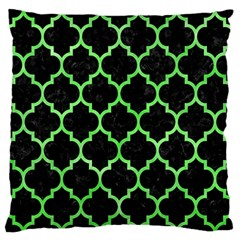 Tile1 Black Marble & Green Watercolor Large Flano Cushion Case (two Sides)