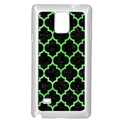 Tile1 Black Marble & Green Watercolor Samsung Galaxy Note 4 Case (white)