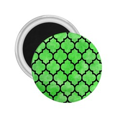 Tile1 Black Marble & Green Watercolor (r) 2 25  Magnets