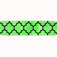 Tile1 Black Marble & Green Watercolor (r) Large Bar Mats