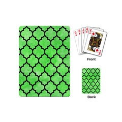 Tile1 Black Marble & Green Watercolor (r) Playing Cards (mini)