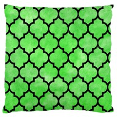 Tile1 Black Marble & Green Watercolor (r) Large Cushion Case (one Side)