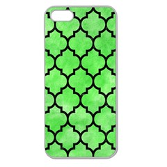 Tile1 Black Marble & Green Watercolor (r) Apple Seamless Iphone 5 Case (clear)