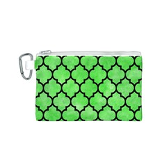 Tile1 Black Marble & Green Watercolor (r) Canvas Cosmetic Bag (s)