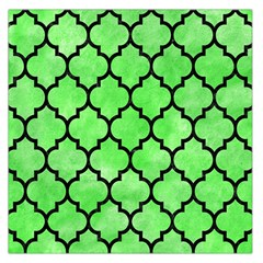 Tile1 Black Marble & Green Watercolor (r) Large Satin Scarf (square)