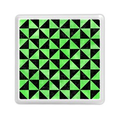 Triangle1 Black Marble & Green Watercolor Memory Card Reader (square)