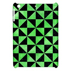Triangle1 Black Marble & Green Watercolor Apple Ipad Mini Hardshell Case