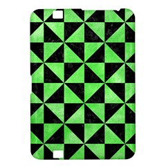 Triangle1 Black Marble & Green Watercolor Kindle Fire Hd 8 9