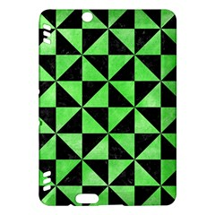 Triangle1 Black Marble & Green Watercolor Kindle Fire Hdx Hardshell Case