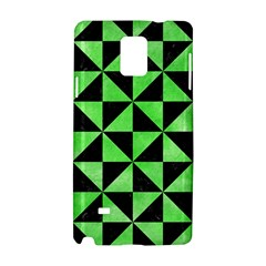 Triangle1 Black Marble & Green Watercolor Samsung Galaxy Note 4 Hardshell Case