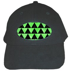 Triangle2 Black Marble & Green Watercolor Black Cap