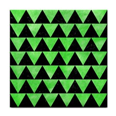 Triangle2 Black Marble & Green Watercolor Face Towel
