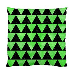 Triangle2 Black Marble & Green Watercolor Standard Cushion Case (two Sides)