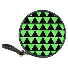 Triangle2 Black Marble & Green Watercolor Classic 20 Cd Wallets