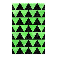 Triangle2 Black Marble & Green Watercolor Shower Curtain 48  X 72  (small)