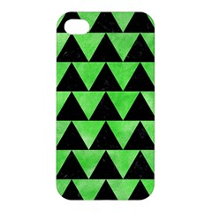Triangle2 Black Marble & Green Watercolor Apple Iphone 4/4s Hardshell Case