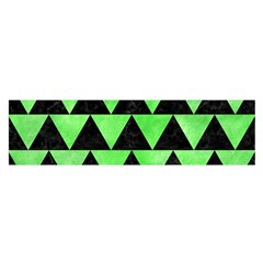 Triangle2 Black Marble & Green Watercolor Satin Scarf (oblong)