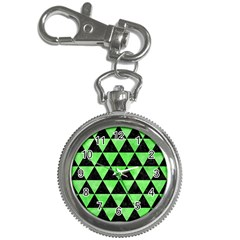 Triangle3 Black Marble & Green Watercolor Key Chain Watches