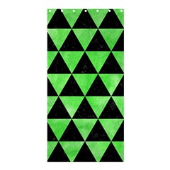 Triangle3 Black Marble & Green Watercolor Shower Curtain 36  X 72  (stall)