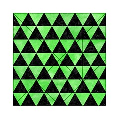 Triangle3 Black Marble & Green Watercolor Acrylic Tangram Puzzle (6  X 6 )