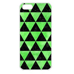 Triangle3 Black Marble & Green Watercolor Apple Iphone 5 Seamless Case (white)