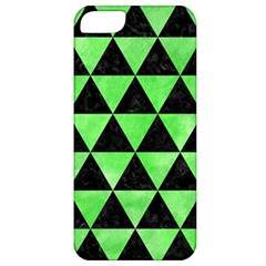 Triangle3 Black Marble & Green Watercolor Apple Iphone 5 Classic Hardshell Case