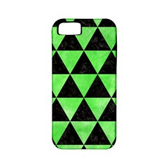 Triangle3 Black Marble & Green Watercolor Apple Iphone 5 Classic Hardshell Case (pc+silicone)