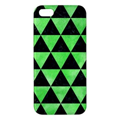Triangle3 Black Marble & Green Watercolor Iphone 5s/ Se Premium Hardshell Case