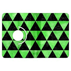 Triangle3 Black Marble & Green Watercolor Kindle Fire Hdx Flip 360 Case