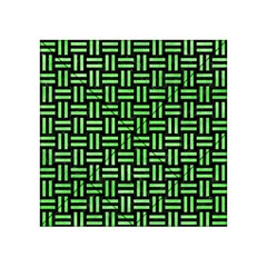 Woven1 Black Marble & Green Watercolor Acrylic Tangram Puzzle (4  X 4 )