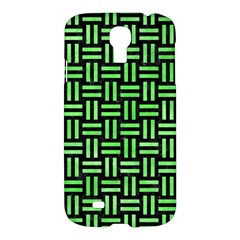 Woven1 Black Marble & Green Watercolor Samsung Galaxy S4 I9500/i9505 Hardshell Case