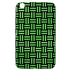 Woven1 Black Marble & Green Watercolor Samsung Galaxy Tab 3 (8 ) T3100 Hardshell Case
