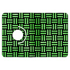Woven1 Black Marble & Green Watercolor Kindle Fire Hdx Flip 360 Case