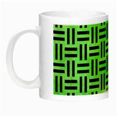 Woven1 Black Marble & Green Watercolor (r) Night Luminous Mugs