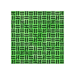 Woven1 Black Marble & Green Watercolor (r) Acrylic Tangram Puzzle (4  X 4 )