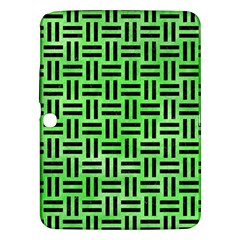 Woven1 Black Marble & Green Watercolor (r) Samsung Galaxy Tab 3 (10 1 ) P5200 Hardshell Case