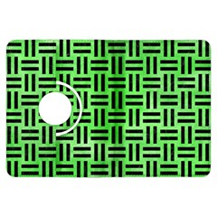 Woven1 Black Marble & Green Watercolor (r) Kindle Fire Hdx Flip 360 Case