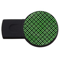 Woven2 Black Marble & Green Watercolor Usb Flash Drive Round (2 Gb)