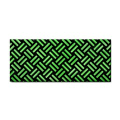 Woven2 Black Marble & Green Watercolor Cosmetic Storage Cases