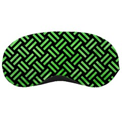 Woven2 Black Marble & Green Watercolor Sleeping Masks