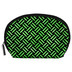 Woven2 Black Marble & Green Watercolor Accessory Pouches (large)