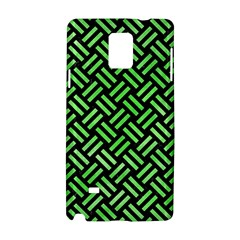 Woven2 Black Marble & Green Watercolor Samsung Galaxy Note 4 Hardshell Case